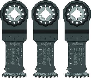"Bosch OSL114JF-3 Starlock Oscillating Multi Tool Bi-Metal Extra Clean Plunge Cut Blade (3 Pack), 1-1/4"""