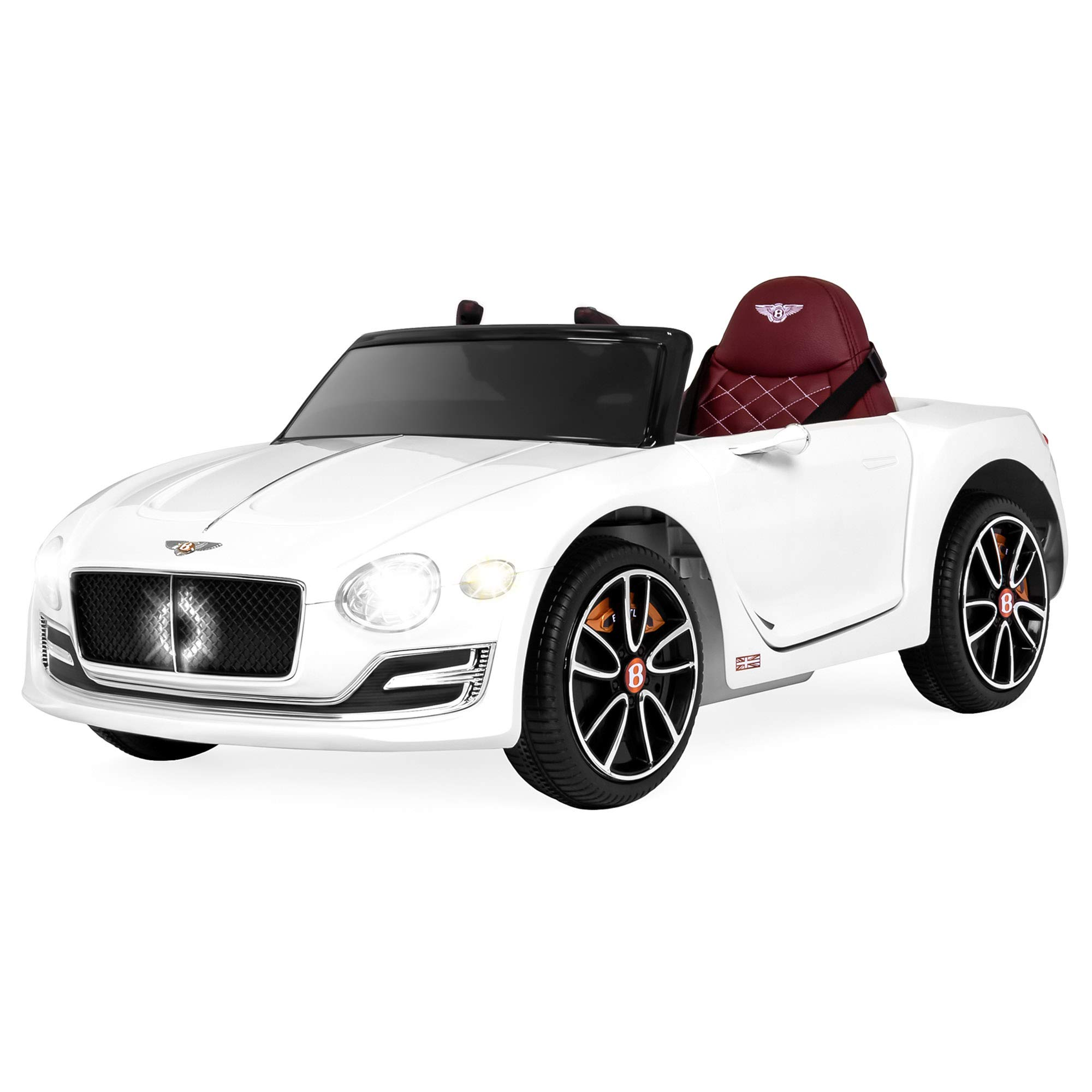 Best Choice Products 12V Kids Bentley EXP 12 Ride-On Car w/ Remote Control, Foot Pedal, 2 Speeds, Headlights, AUX- White