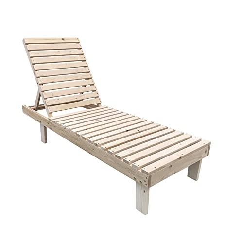 Bestmart INC Outdoor Wooden Adirondack Chaise Lounge Chair Patio Deck  Furniture