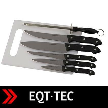 Compra EQT-TEC Juego de 7 Cuchillos Acero Inoxidable ...