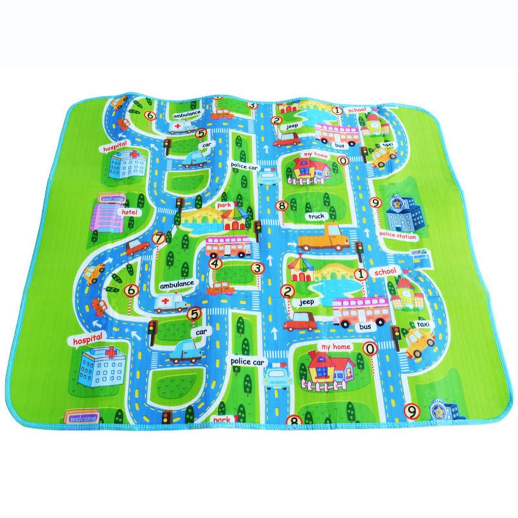 RXIN Kids Playing Mat Single Side Rug Puzzle Transport 160cm/130cm/0.5cm Maze Street Game Mat Baby Crawling Eva Foam Play Mat Baby Toys Kids Floor Carpet