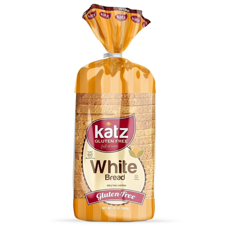 Katz Gluten Free White Bread | Dairy Free, Nut Free, Gluten Free | Kosher (3 Packs of 1 Sliced Loaf, 21 Ounce Each)