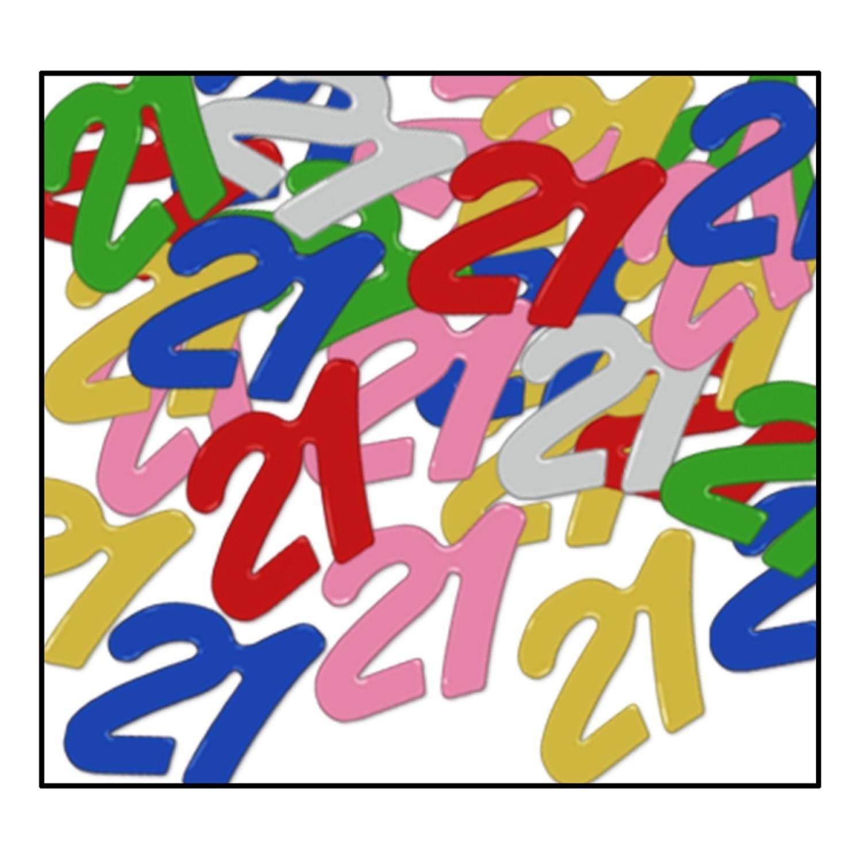Party Central Club Pack of 12 Multi-Colored Fanci-Fetti 21'' Celebration Confetti Bags 0.5 oz.