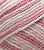 Lily Sugar 'n' Cream Ombres 56.7 g Strawberry Ball of Yarn, Red