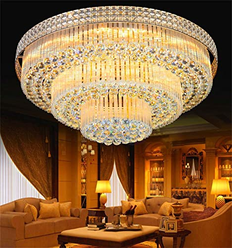 Kankanray Luxury K9 Crystal Chandelier Lighting Lamp Flush Mount Ceiling Lamp