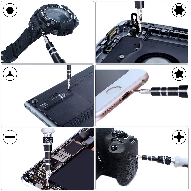 Gocheer Schraubenzieher Set,110 In 1 Präzision Schraubendreher für iPhone, Handy, Computer, Tablet, Kamera, andere Elektronik