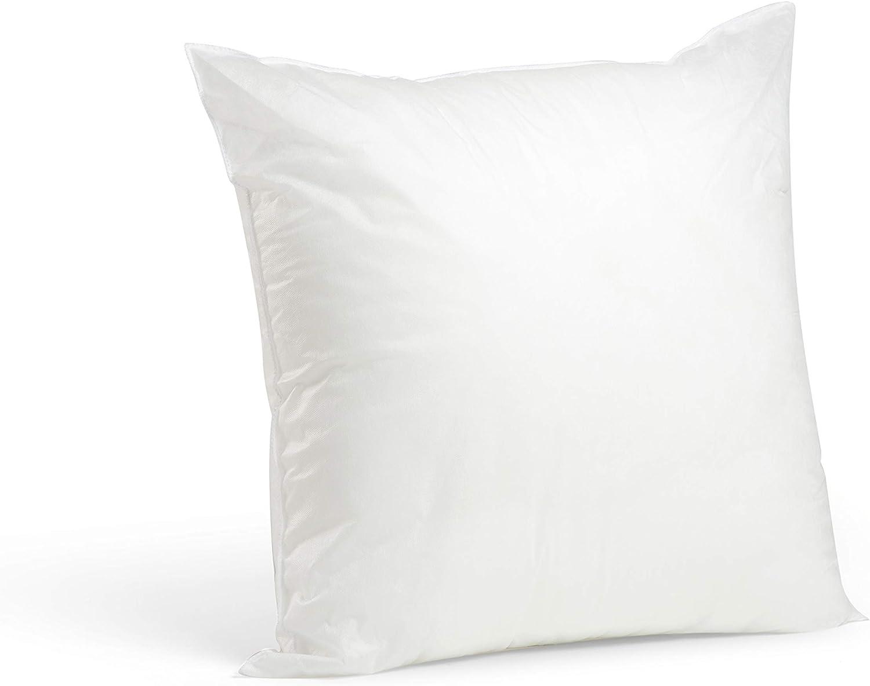 "Foamily Premium Hypoallergenic Stuffer Pillow Insert Sham Square Form Polyester, 20"" L X 20"" W, Standard/White"