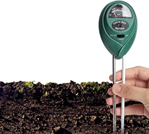 Ruolan Soil Ph Meter for Soil Test Kit with pH Moisture Meter PrecisionTest Soil Ph Plant for Garden Indoor & Outdoor, No Batteries Required