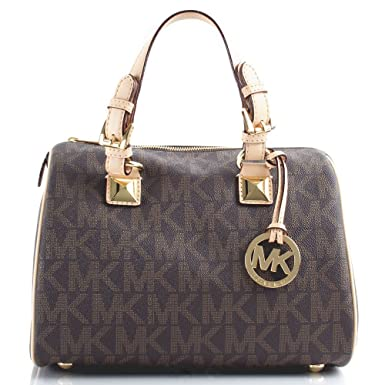 3997773b653e Michael Kors Brown Grayson Medium Satchel Women s Bag Brown Leather ...