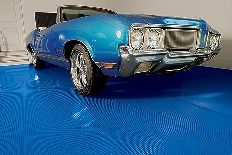 BLT G Floor Ribbed Garage Floor Mat 55 Mil 7.5u0027 X 17u0027 Sandstone