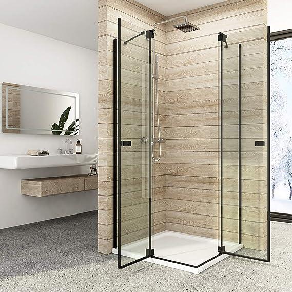 Cabina de ducha para esquina de entrada, puerta plegable, mampara de ducha de cristal de seguridad de 8 mm Nano Glas: Amazon.es: Bricolaje y herramientas