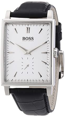 Hugo Boss Silver Dial Black Leather Mens Watch 1512783 Advantages