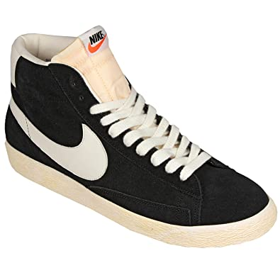 low priced 9e3b3 7f885 Nike Blazer Mid High Top Black Suede Trainers Sneaker Men ...