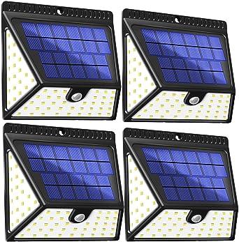 Luz Solar Jardín, BAXiA 1640LM Focos Solares 2400mAh Lámparas Solares Exterior con Sensor de Movimiento, IP65 Impermeable Luces Solares Pared Seguridad para Garaje, Patio, Camino: Amazon.es: Iluminación