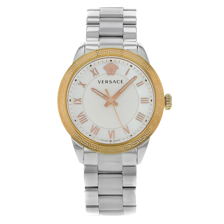Versace V Sport P6Q89FD002S099 Damen-Quarz-Armbanduhr aus Stahl und mit goldfarbenen Details