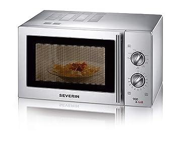 Severin MW 7849 Horno a microondas con grill 1000 W, color: acero inoxidable satinado (ricondizionato Certificado)