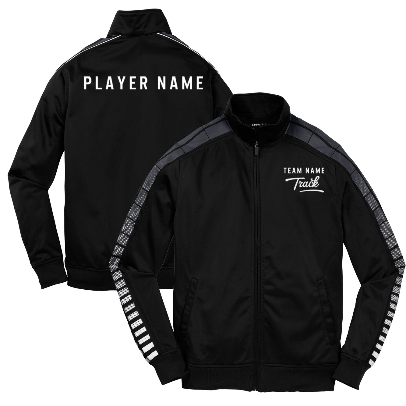 KAMAL OHAVA Custom Youth School Athletic Team Tricot Warm Up Jacket Sport Tek