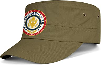 Women/'s Washed Military Cadet Style Cap Yellow