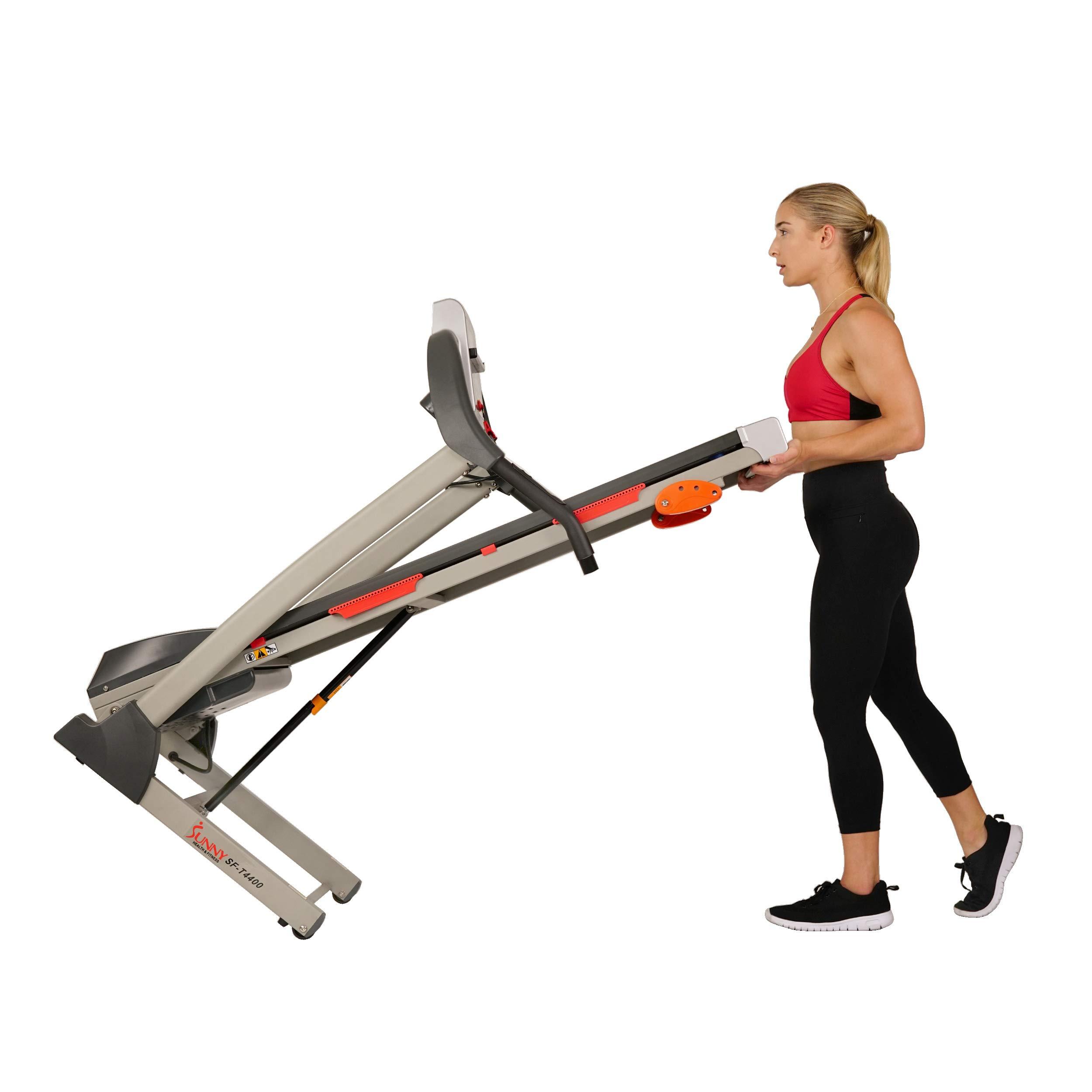 Sunny Health & Fitness Treadmill Folding Motorized Running Machine by Sunny Health & Fitness (Image #8)