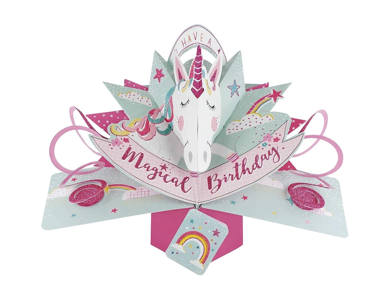 Second Nature pop up biglietto di compleanno con unicorno