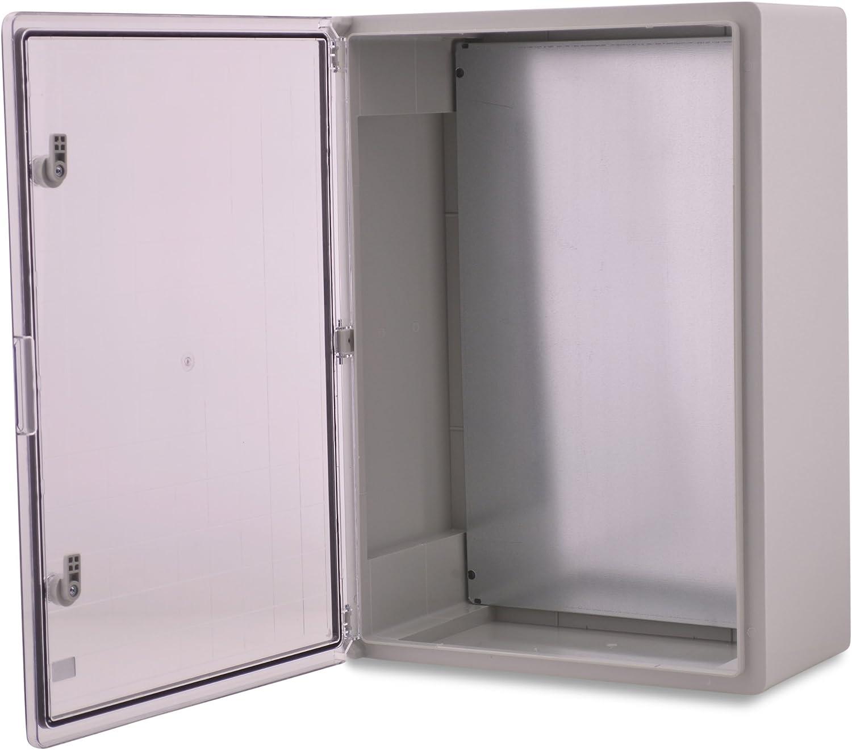 Caja de plástico ABS BOXEXPERT Caja de control de la flota IP65 gris/transparente (ABS, 700x500x250mm con puerta transparente): Amazon.es: Bricolaje y herramientas