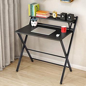 SED Mesa pequeña - Simple Inicio Moda Plegable Computadora portátil Escritorio de la computadora Estudiante Escritorio Dormitorio Estudiante Fácil Lazy Bed ...