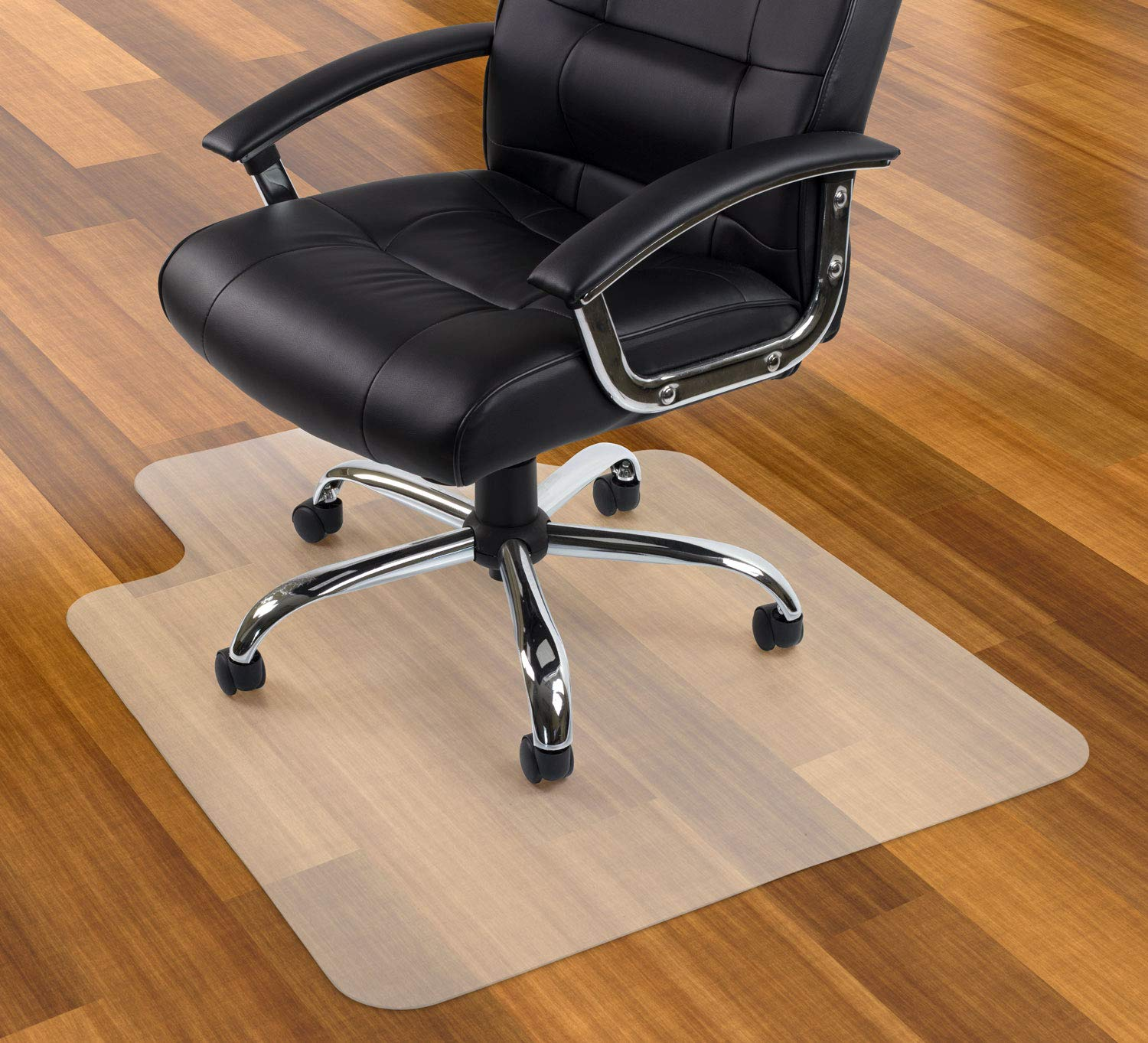 Mount-It! Office Chair Mat for Hardwood Floor, Clear Computer Chair Floor Protector, Use in Home or Office on Wood, Tile, Linoleum, Vinyl, or Carpet, 47'' x 35.5''