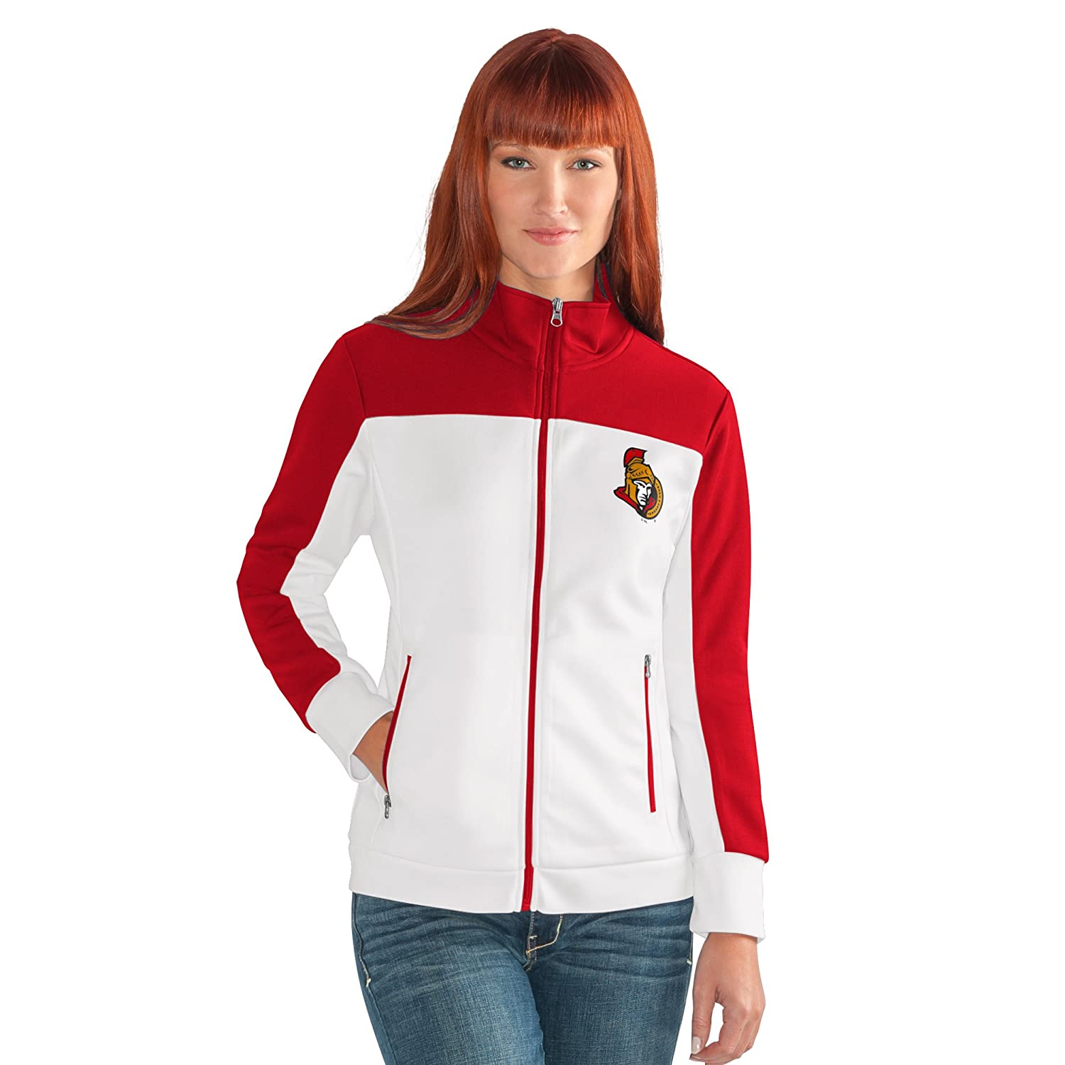 White Large G-III Womens Play Maker Track Jacket