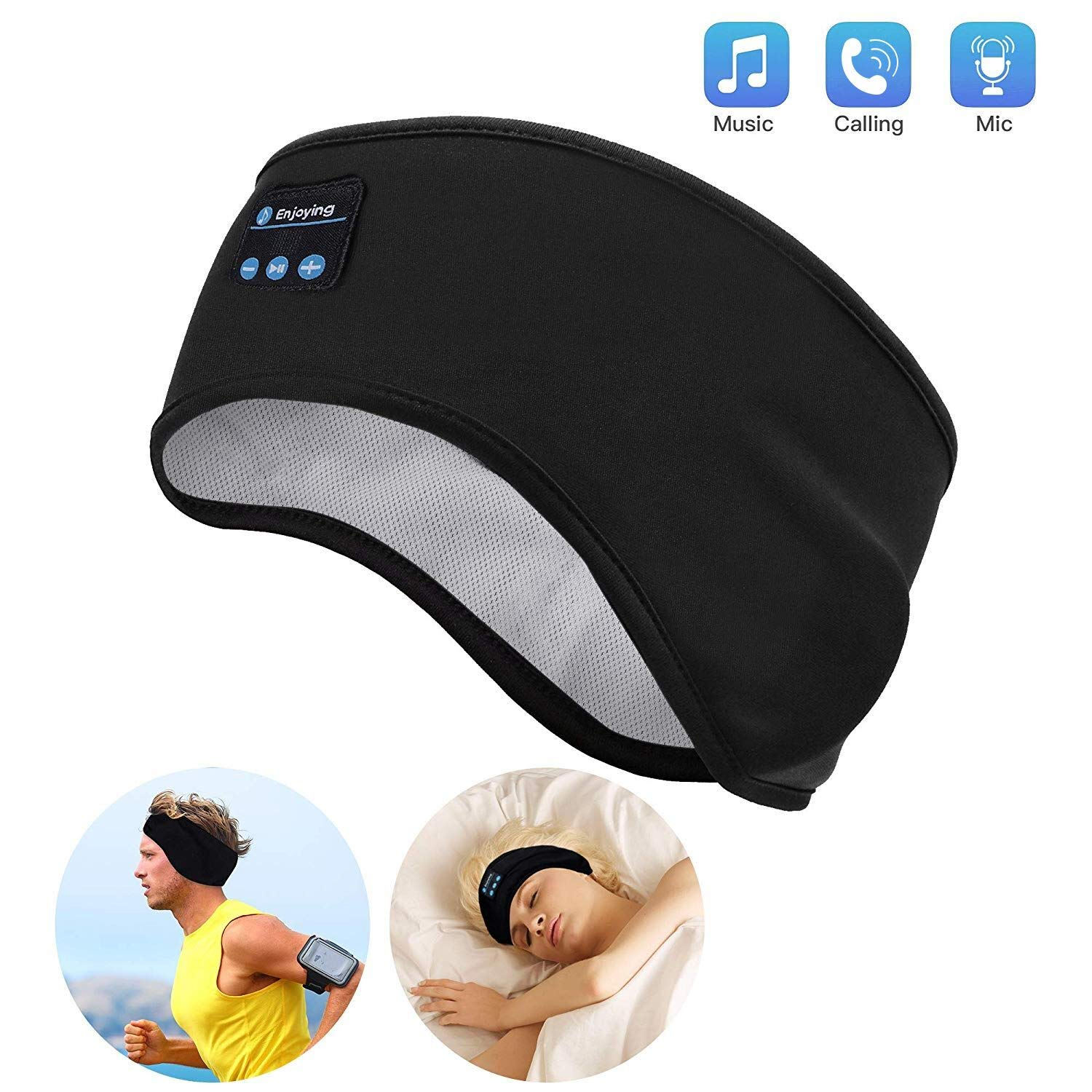 Auriculares Bluetooth Sleep Lavince Inalambrico Sports Headband con Ultra-Thin HD Stereo Speakers Perfect para Workout J