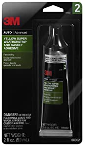 3M Yellow Super Weatherstrip and Gasket Adhesive, 08002, 2 fl oz