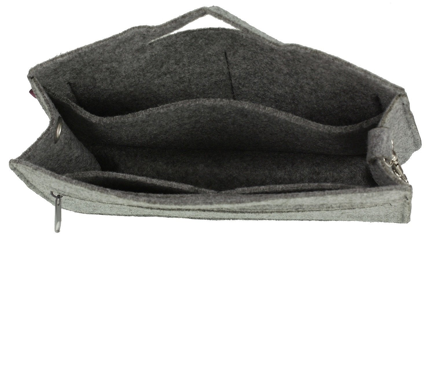 Grey Bag Organizer Design TULIPS Felt