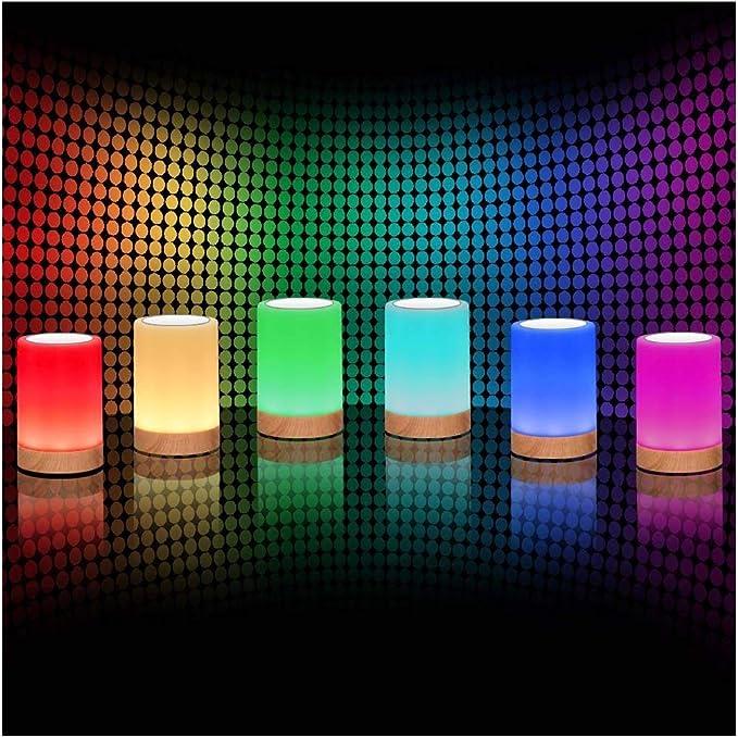 ROYFACC Table Lamp Touch Sensor Lamp Bedside LED Night Light for Kids Bedroom