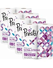 Presto! Ultra-Strong Toilet Paper, 308-Sheet Mega Roll ,6 Count (Pack of 4)