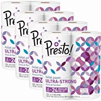 24-Count Amazon Presto! 308-Sheet Mega Roll Toilet Paper