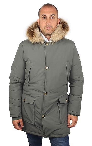 1st American Parka Hombre- Chaqueta Invierno con Capucha y Pelo Real - Abrigo Ultra Caliente: Amazon.es: Ropa y accesorios