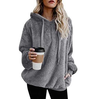 spyman 2018 Winter Shaggy Oversized Hoodies Women Sweatshirts Korean Ladies Long Sleeve Tumblr Hoodies Pullover Jumper