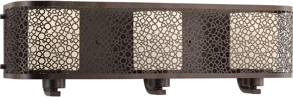 Progress Lighting P2163-20 Contemporary Soft 3-100W Med Bath Bracket, Antique Bronze