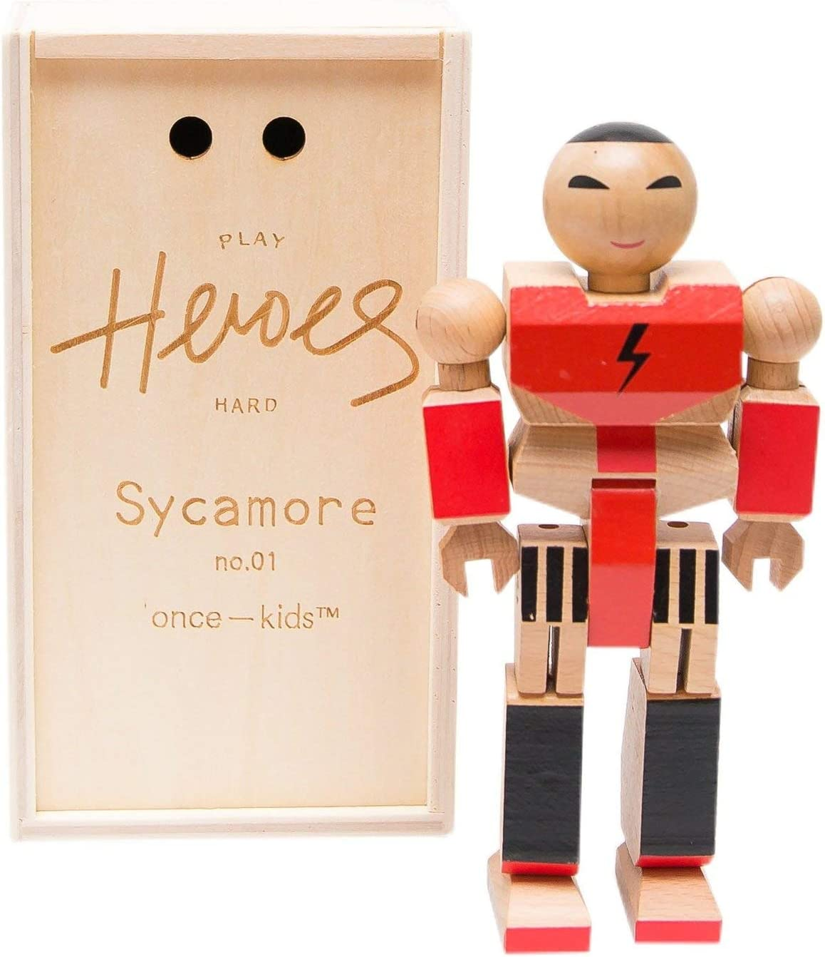 ONCE KIDS Playhard Heroes #1 Sycamore Wood Action Figure