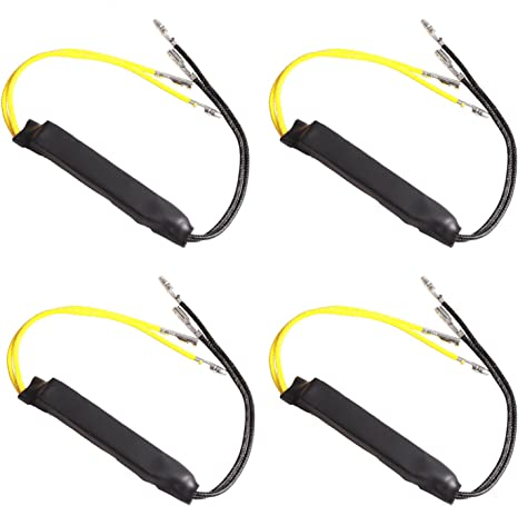3 modalit/à 24 LEDs Indicatore di direzione a 12 volt OFNMY 4pcs Flashers per Moto