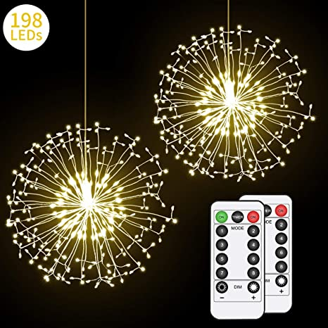 Amazon Com Hohoto Firework Lights Led Fairy Lights 2 Pack Of Diy