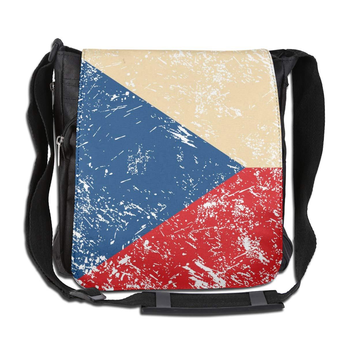 Czech Retro Flag Crossbody Shoulder Bag Fashion Casual Daily Messenger Bag Satchel School Bag For Women And Men