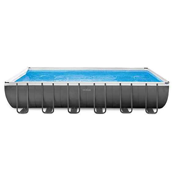 Amazon.com : Intex Rectangular Ultra Frame Pool Set, 24 Feet By 12 Feet By  52 Inch : Above Ground Swimming Pools : Garden U0026 Outdoor