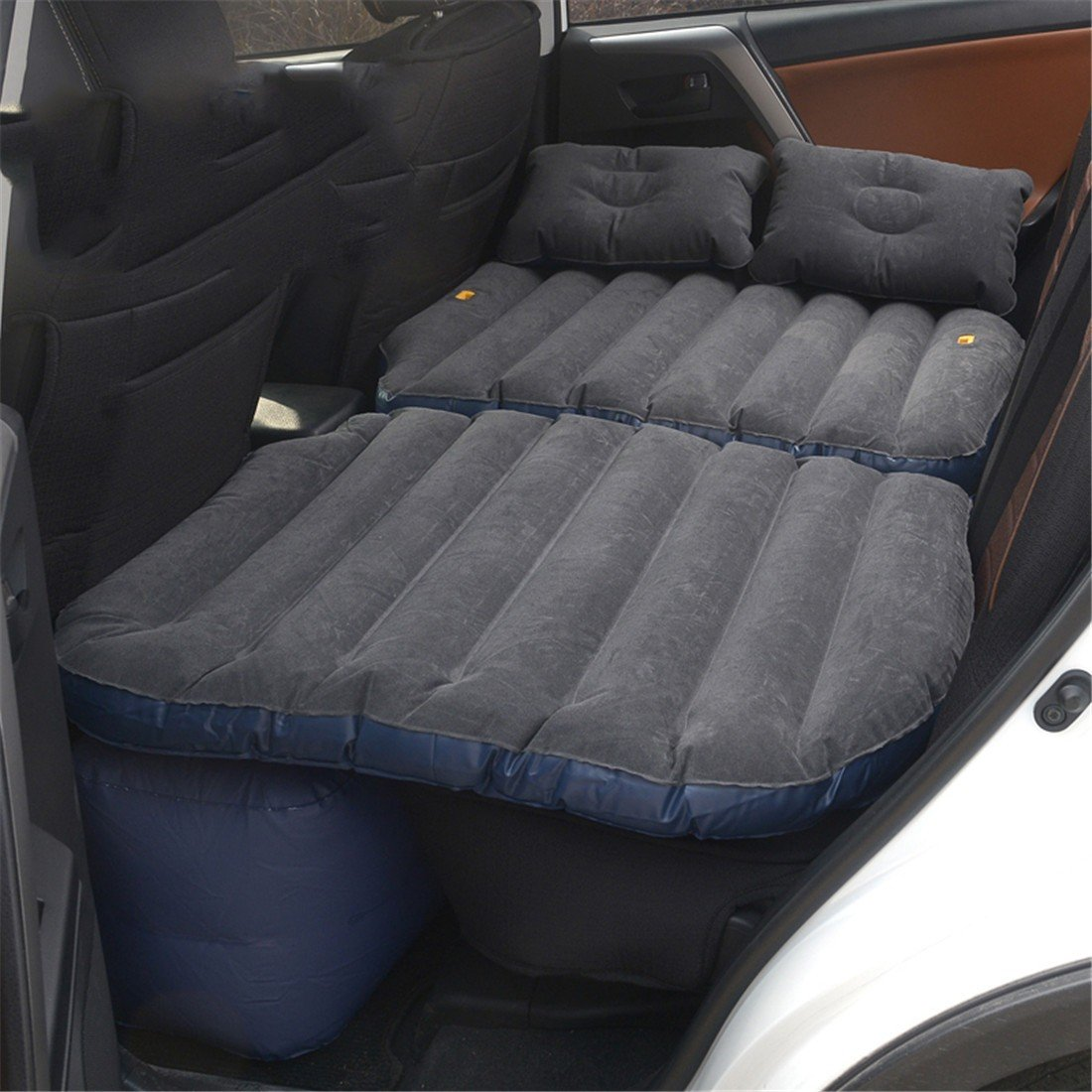 STAZSX Kann sitzen Auto Auto aufblasbare Bett Auto hintere Reihe Kinder Reisebett Auto Bett Auto SUV Isomatte, Beflockung schwarz-135x78CM B07FTJ2F6L Luftmatratzen Ideales Geschenk für alle Gelegenheiten