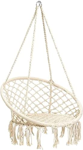 Macrame Hanging Chair by Namaste Indoor and Outdoor Cotton Woven Hammock Chair Includes Free Hardware Hanging Kit