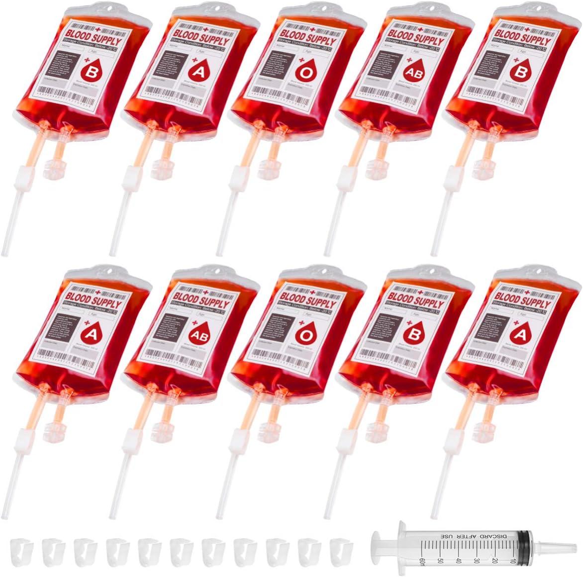 Halloween Blood Bags Novelty Premium Reusable Fashionable Party Favors Zombie Props 10PCS