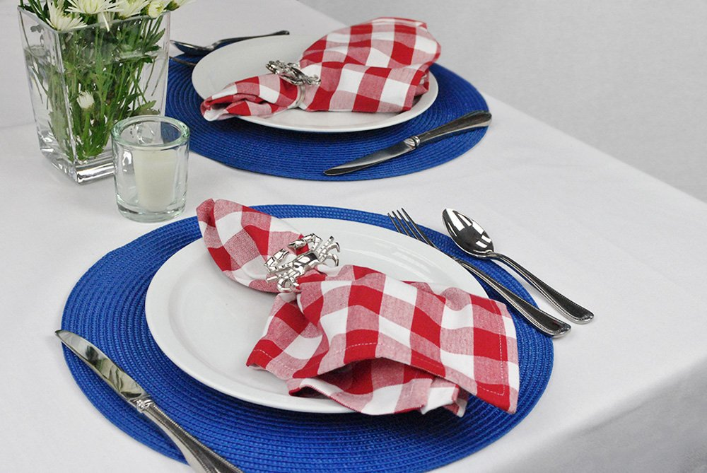 DII Oversized 20x20 Cotton Napkin, Pack of 6, Red & White Check - Perfect for Fall, Thanksgiving, Farmhouse DÃcor, Christmas, Picnics & Potlucks or Everyday Use by DII (Image #7)