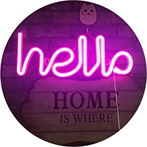 LED Neon Letters Lights Hello Shape Neon Signs Neon Word Light Art Decorative Wall Decor for Night LightBright Lamp Words for Baby Room Home, Hotel,Christmas Wedding Party Supplies (Pink Hello)