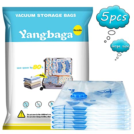 Yangbaga Bolsas de Almacenaje al Vacío 5 Unidades Bolsas ...