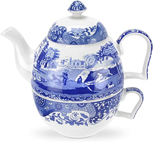 azul y blanco Porcelana Portmeirion Home /& Gifts Sal y pimienta REF