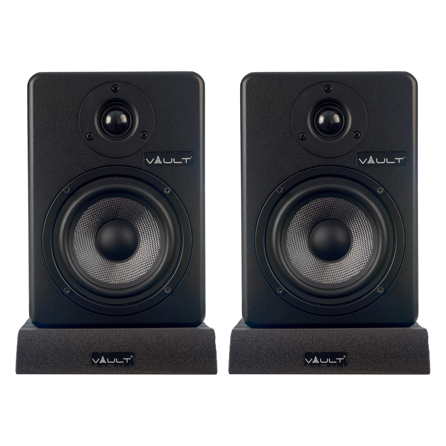 Vault C5 5-Inch Powered Studio Reference Monitors - Pair